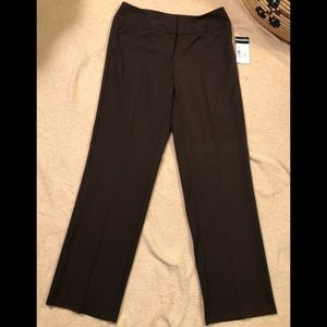 NWT Requirements chocolate brown pants size 8